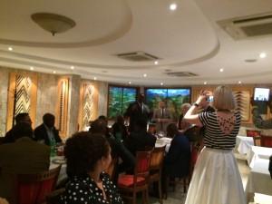 Minister przemyslu Rwandy podczas uroczystej kolacji w trakcie misji